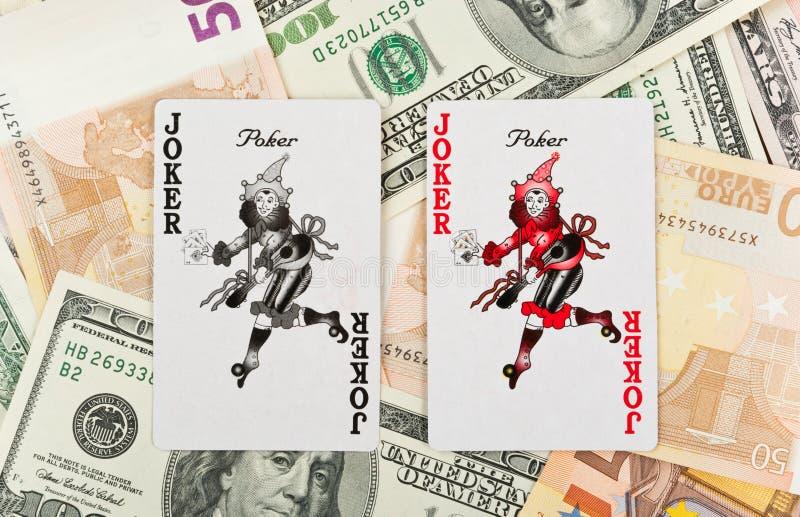 jokers två royaltyfri fotografi