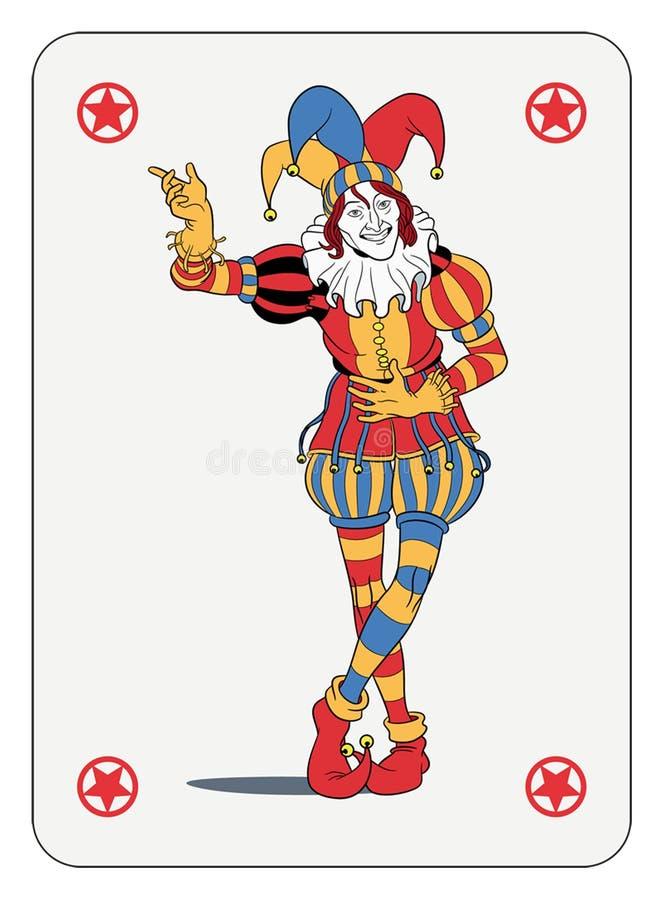 Jokerspeelkaart stock illustratie
