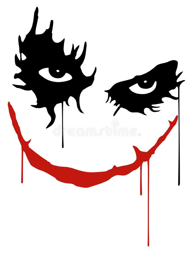 jokeru uśmiech royalty ilustracja