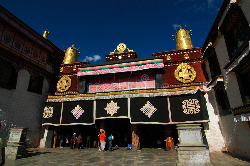 jokhang ναός στοκ εικόνα με δικαίωμα ελεύθερης χρήσης