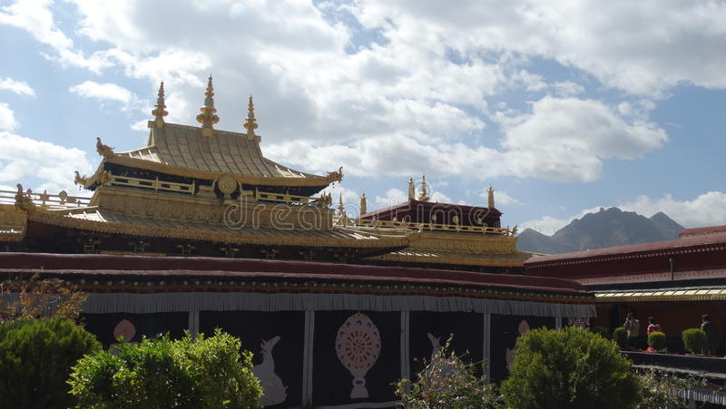 Jokhang tempel, Lhasa arkivbild