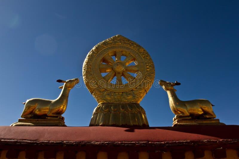 Jokhang-Tempel Lhasa Tibet lizenzfreies stockbild