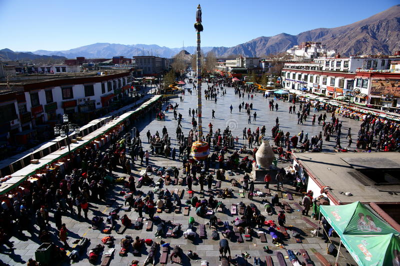 The Jokhang temple royalty free stock image