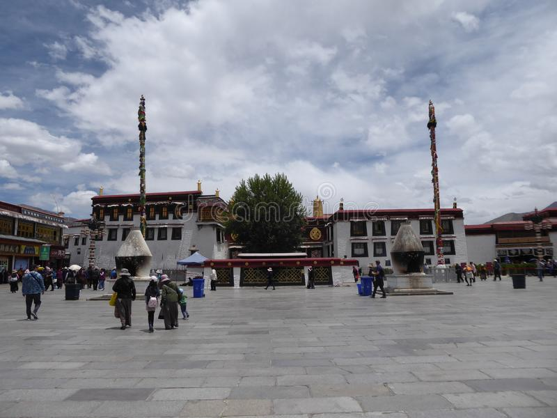 Jokhang temple Lhasa Tibet stock photo