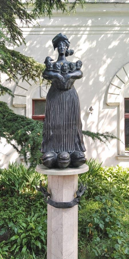 Joking Monument Odessa-Mom, Odessa, Ucraina fotografia stock libera da diritti