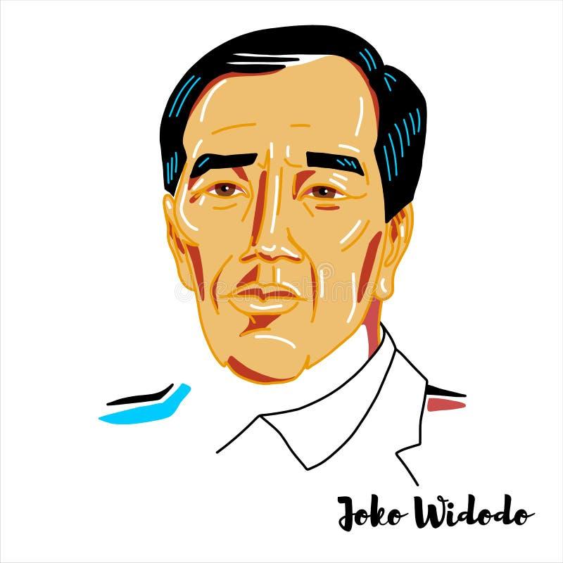 Joko Widodo Portrait stock de ilustración