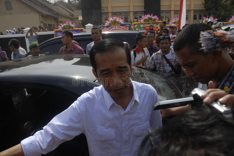 JOKOWI PRESIDENTIAL CAMPAIGN. Indonesian then-President Joko Widodo or Jokowi on political campaign prior to Indonesian Presidential Election which elected him royalty free stock photos