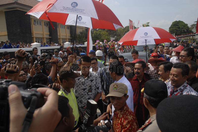JOKOWI PRESIDENTIAL CAMPAIGN. Indonesian then-President Joko Widodo or Jokowi on political campaign prior to Indonesian Presidential Election which elected him royalty free stock images