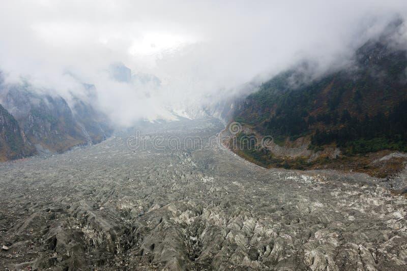 Jokul and glacier landscape stock image