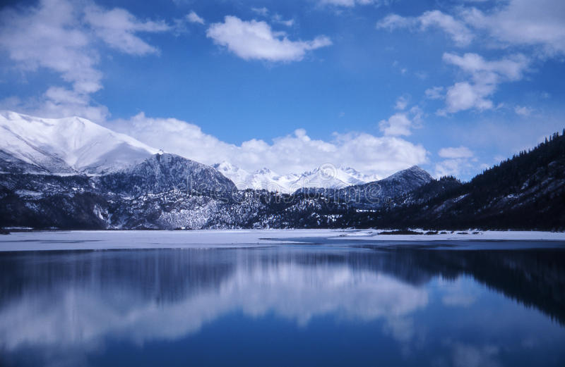 The jokul and the lake stock photography