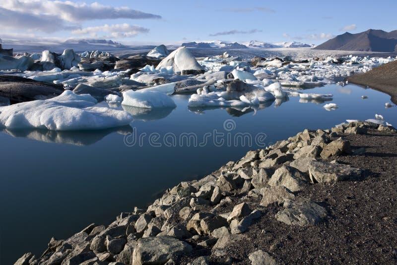 Jokulsarlon в Исландии стоковое изображение