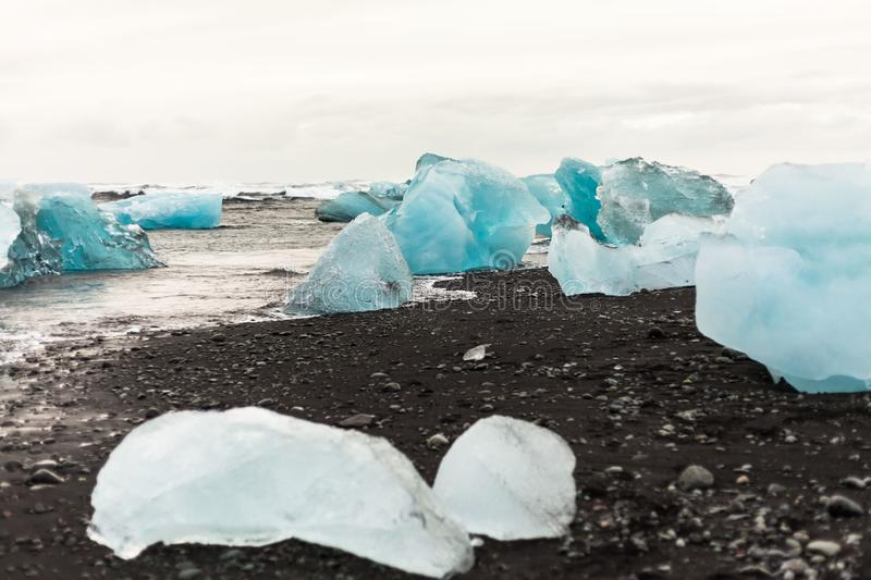 Jokulsarlon is a glacial lagoon or better known as Iceberg Lagoon. Which located in Vatnajokull National Park Iceland stock photos