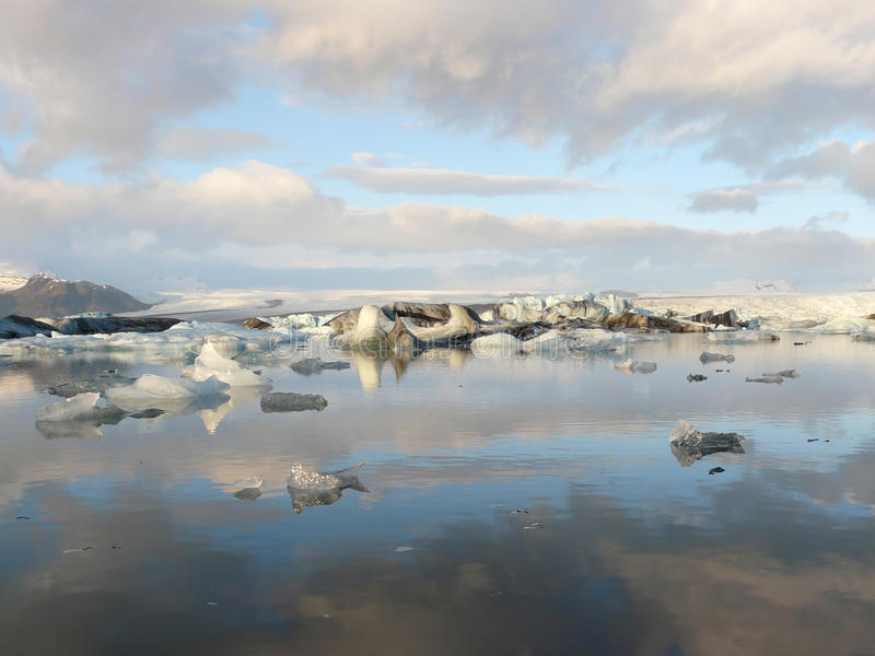 Jokulsarlon, glacier lagoon royalty free stock photo