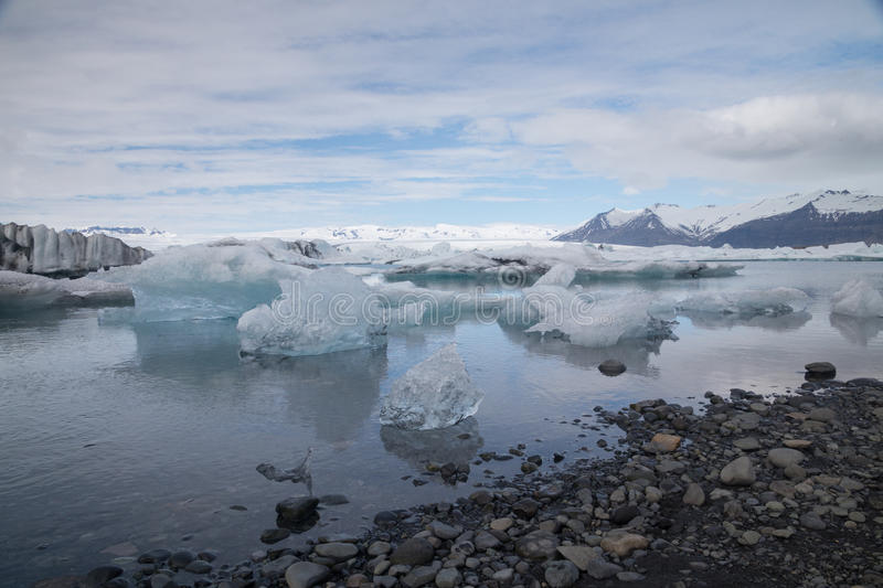 Jokulsarlon glacier lagoon, Iceland royalty free stock images