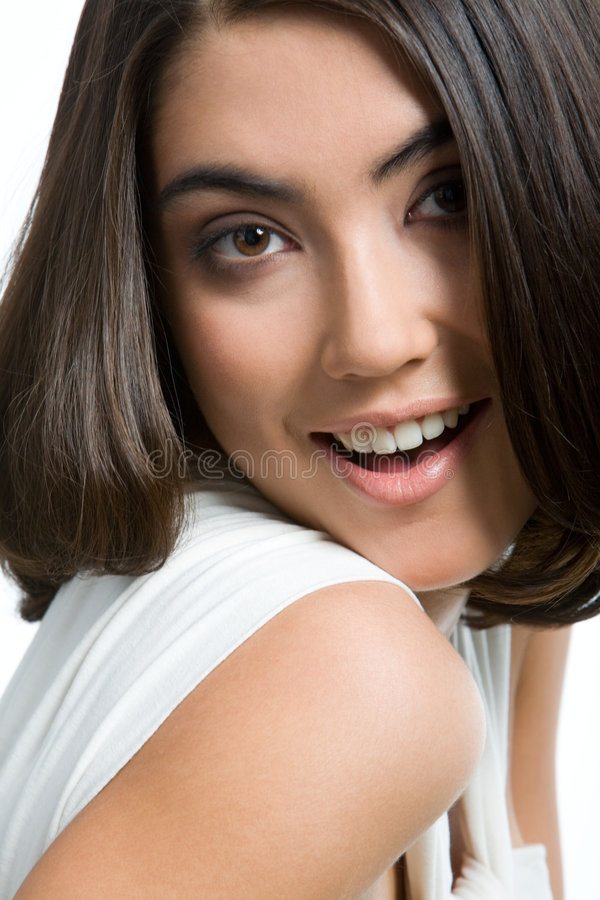 Joli brunette photographie stock libre de droits