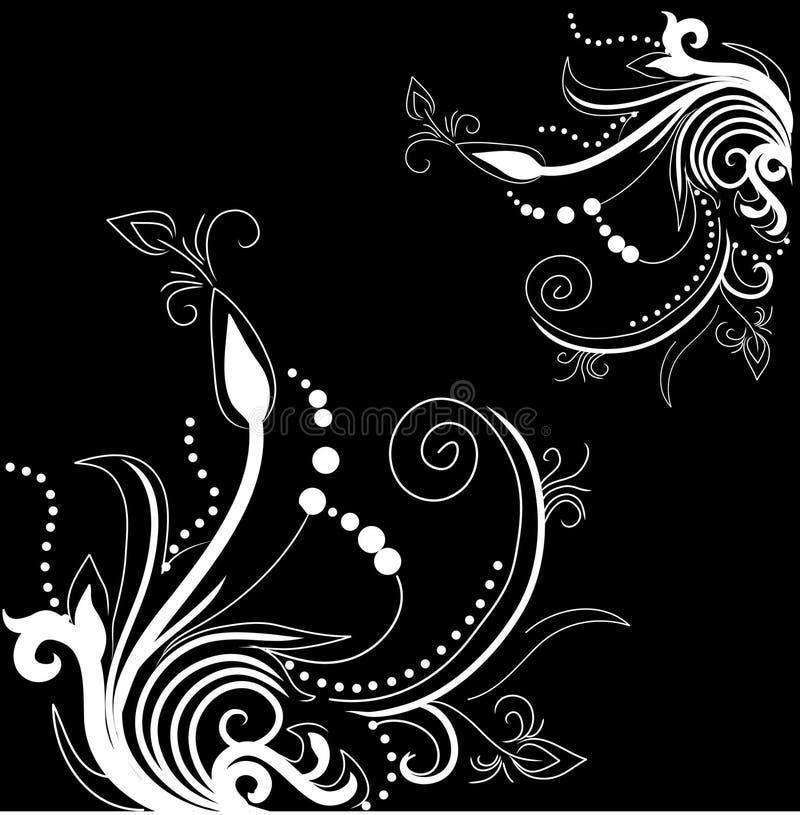 Joli fond avec des conceptions florales illustration de vecteur