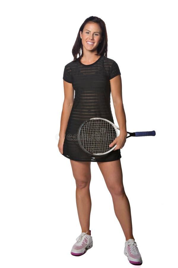 Joli joueur de tennis féminin images stock