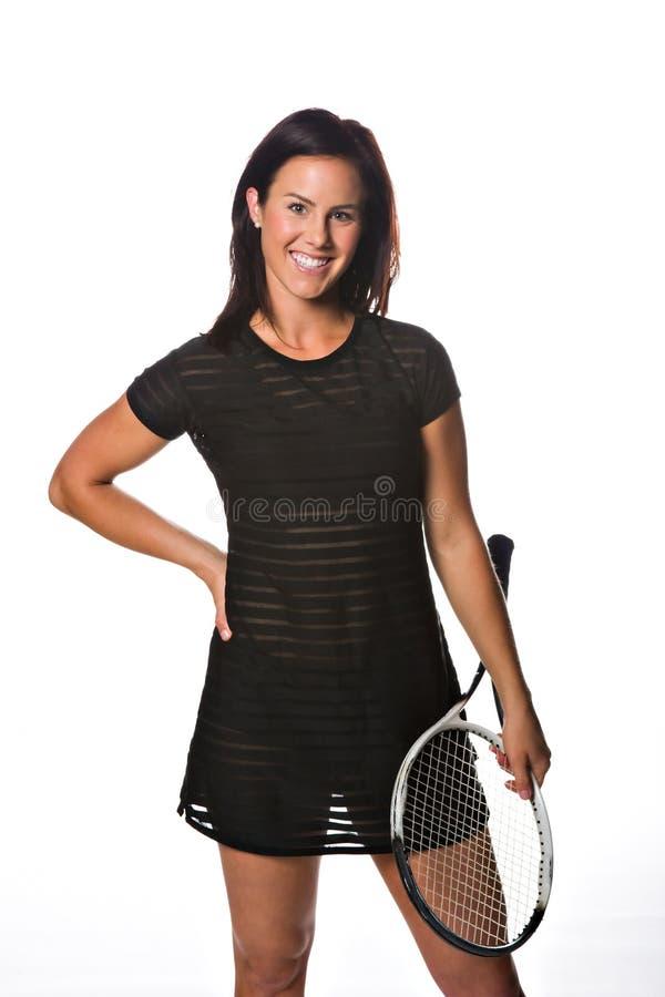 Joli joueur de tennis féminin image libre de droits