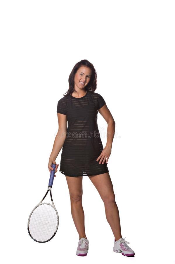 Joli joueur de tennis féminin photographie stock libre de droits