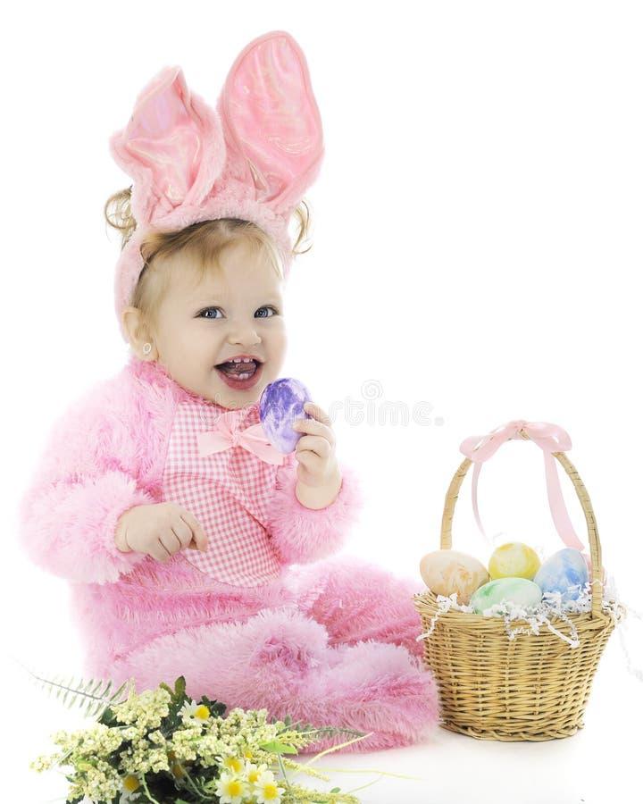 Joli lapin de Pâques de bébé photos libres de droits