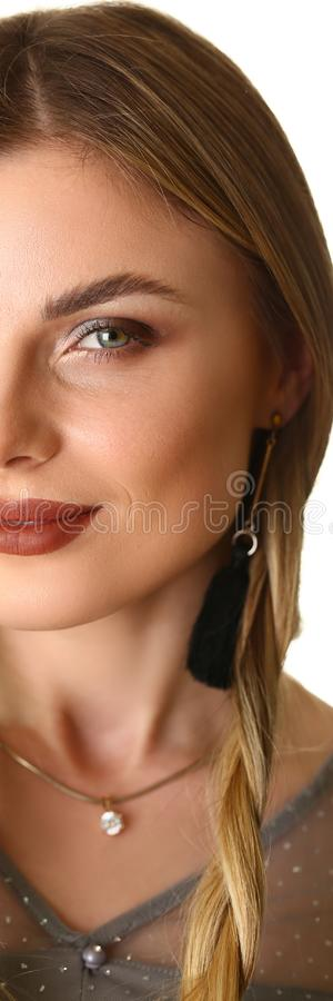 Joli mod?le femelle caucasien Promotion Shooting image libre de droits