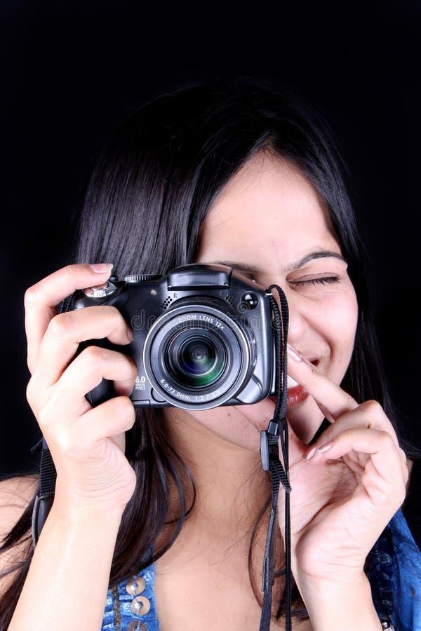 Joli photographe photo stock