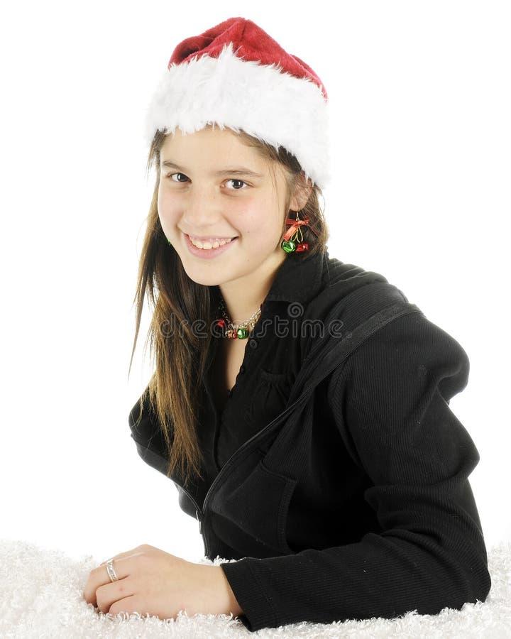 Joli préadolescent de Noël image stock