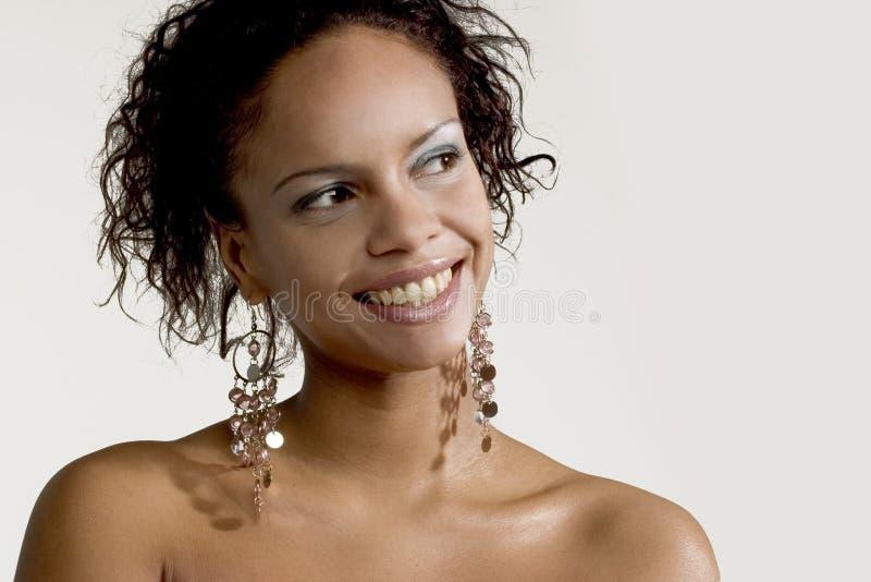 Joli visage de sourire image libre de droits