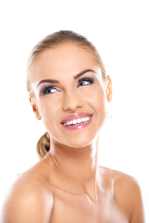 joli visage de sourire de femme nue image stock image du adulte caucasien 45928253. Black Bedroom Furniture Sets. Home Design Ideas