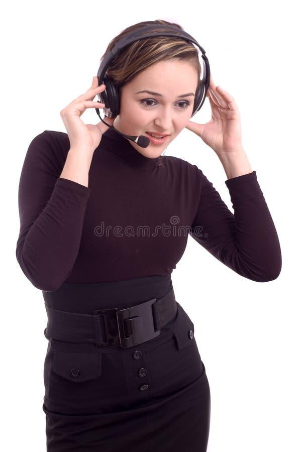 Jolie écoute de fille photographie stock