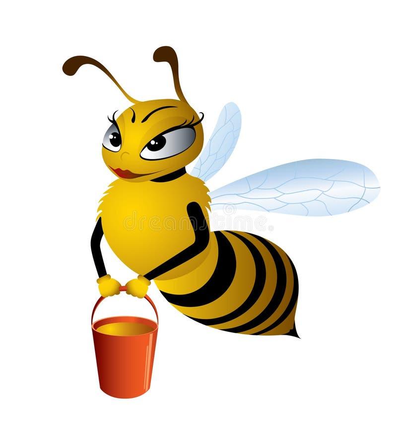 Jolie abeille photo stock