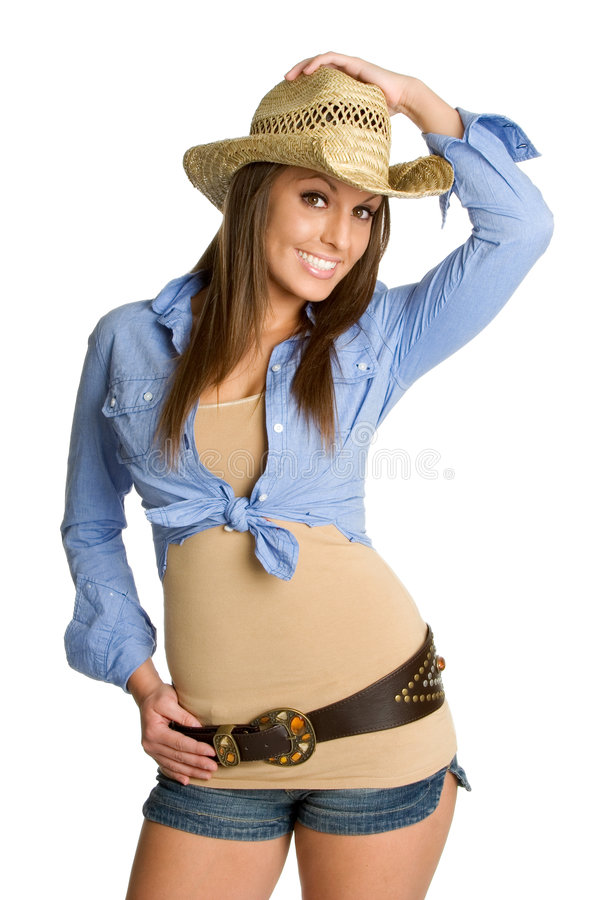 Jolie cow-girl photo stock