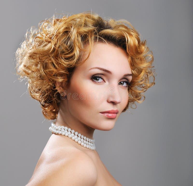 jolie femme blonde photographie stock