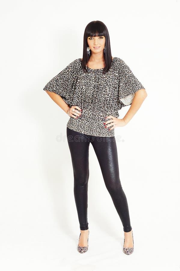 Jolie femme de brunette photo stock