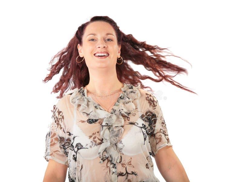 jolie femme de cheveu brun photos stock