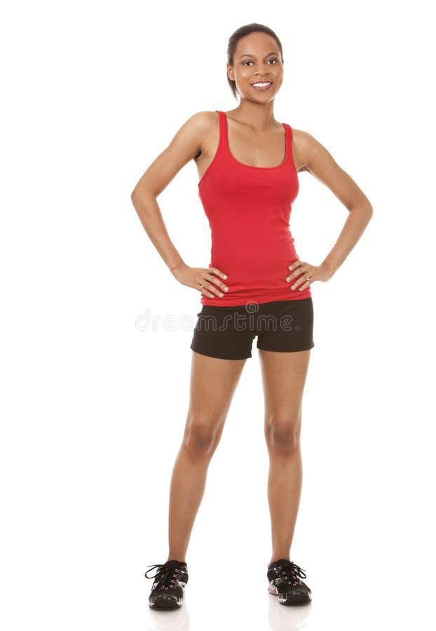 Jolie femme de forme physique photographie stock libre de droits