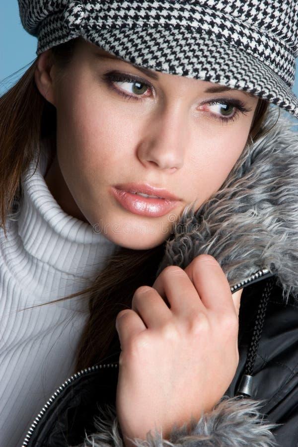 jolie femme de l'hiver photographie stock