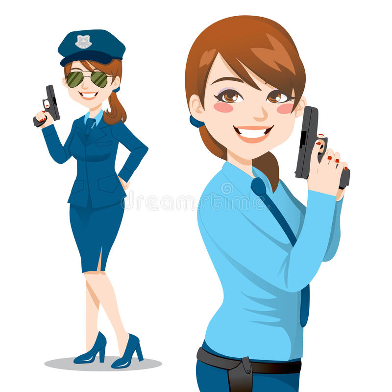 Jolie femme de police illustration libre de droits