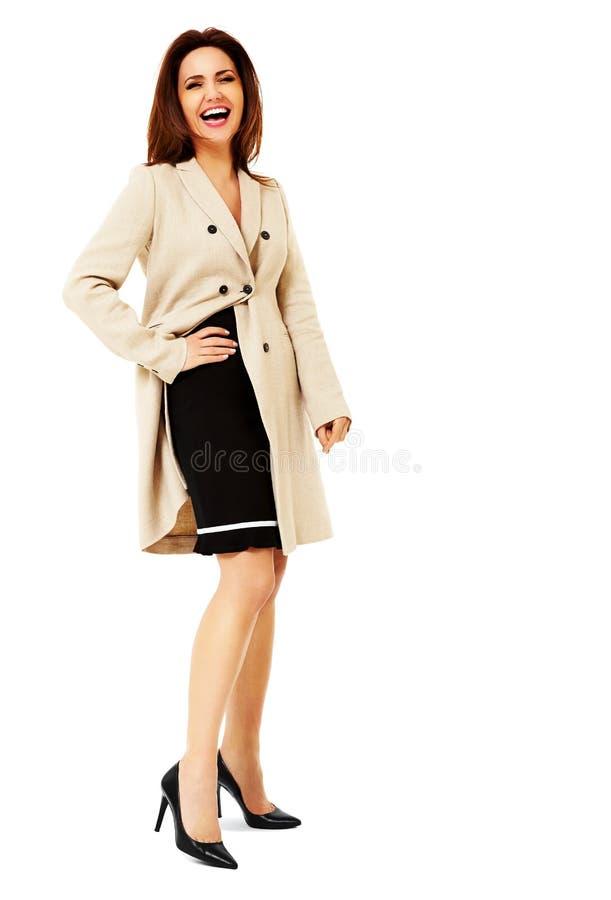 Jolie femme riante d'affaires photos libres de droits