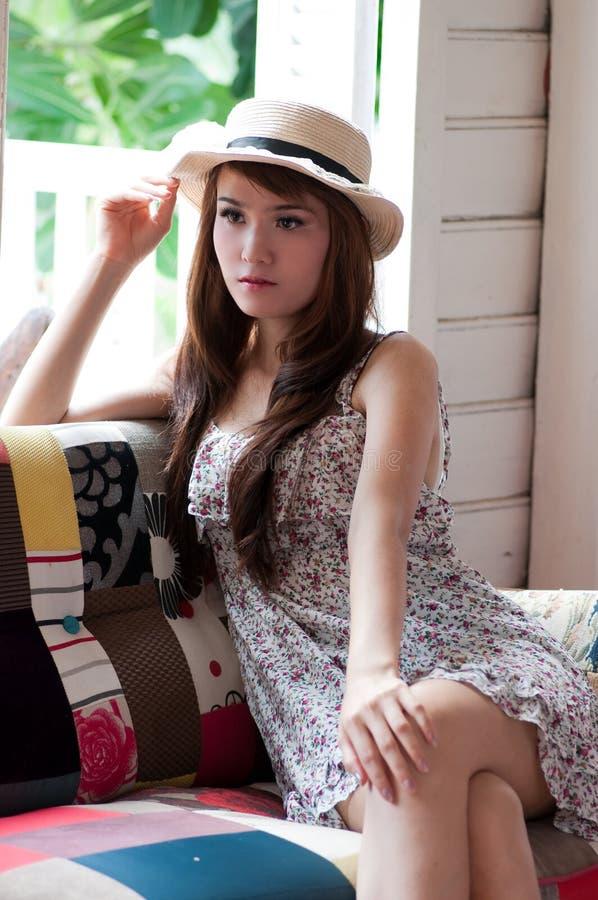 Jolie femme thaïe images stock