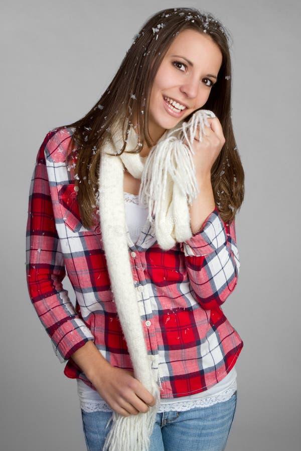Jolie fille de l'hiver photographie stock