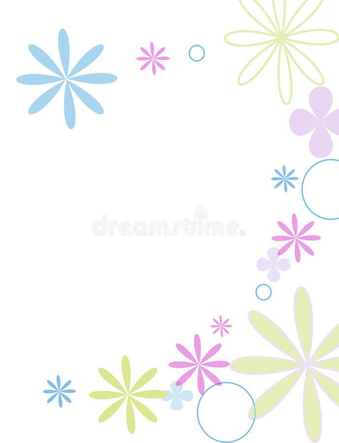 jolie fleurs ilustracja wektor