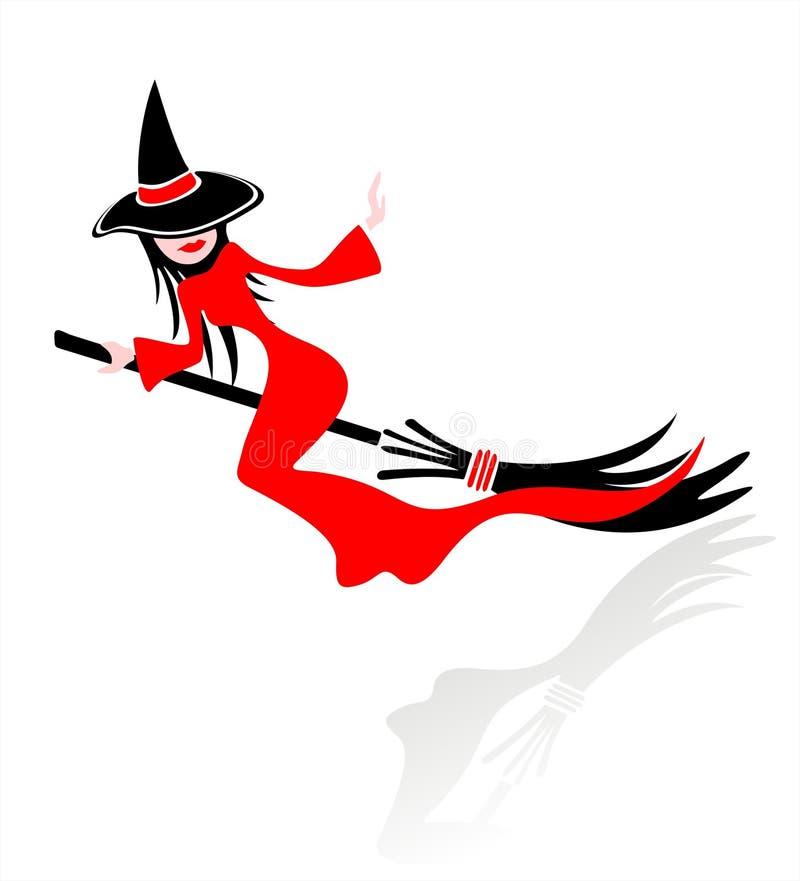 Jolie sorcière de vol illustration libre de droits