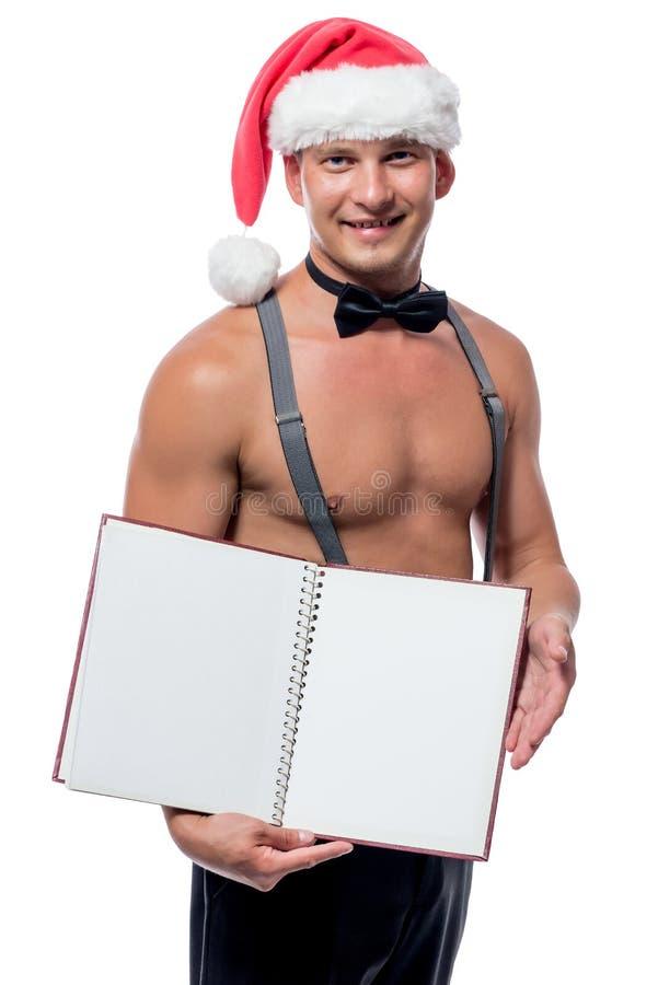 Jolie strip-teaseuse de serveur, avec le livre de menu images stock