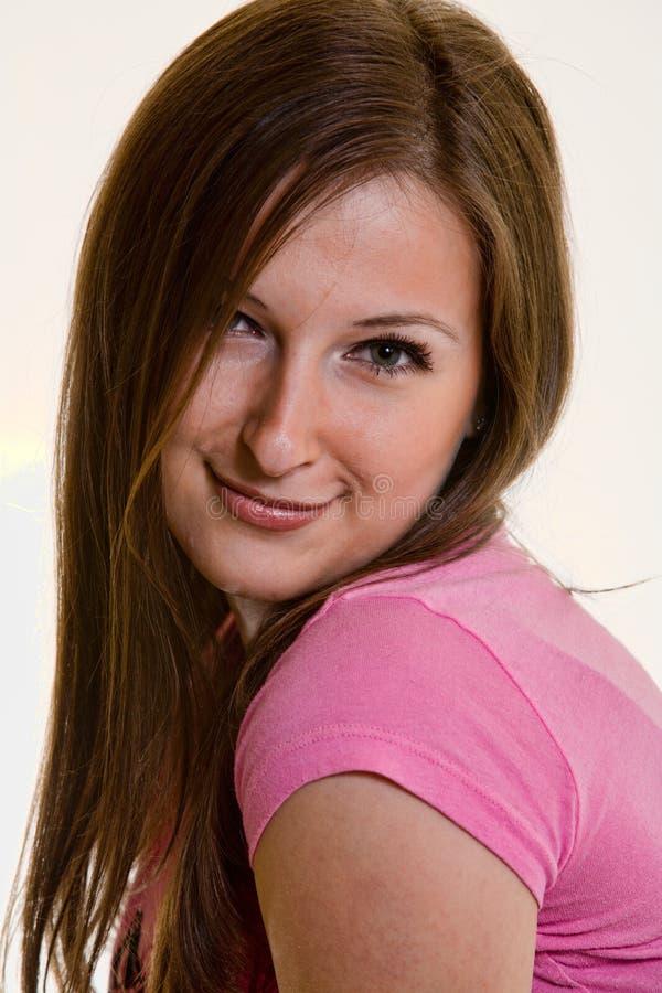 Jolie verticale de femme photos stock