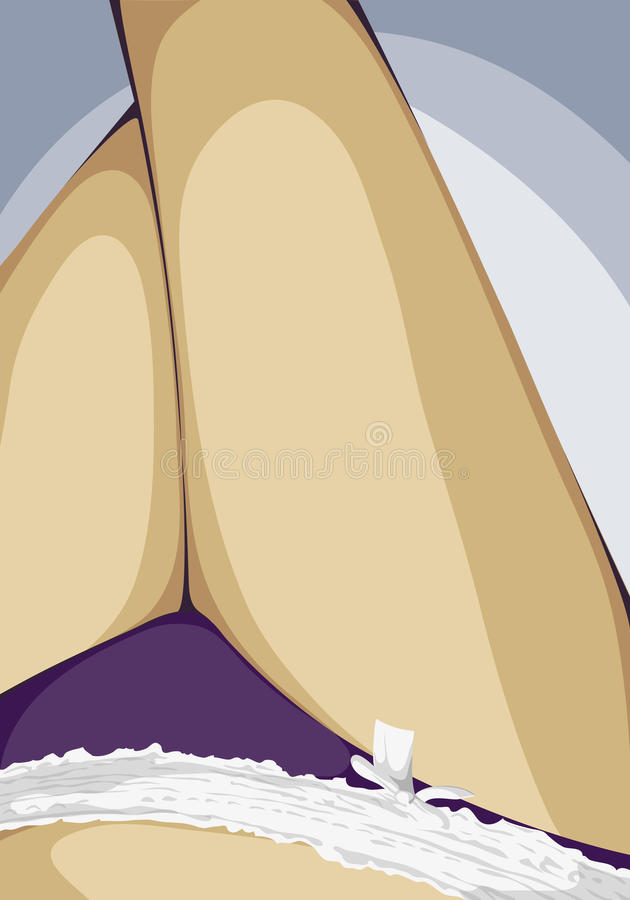 Jolies jambes de femme illustration stock