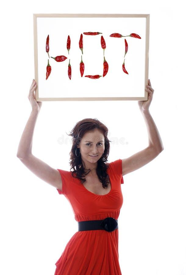 Jolis femmes avec un whiteboard photos stock