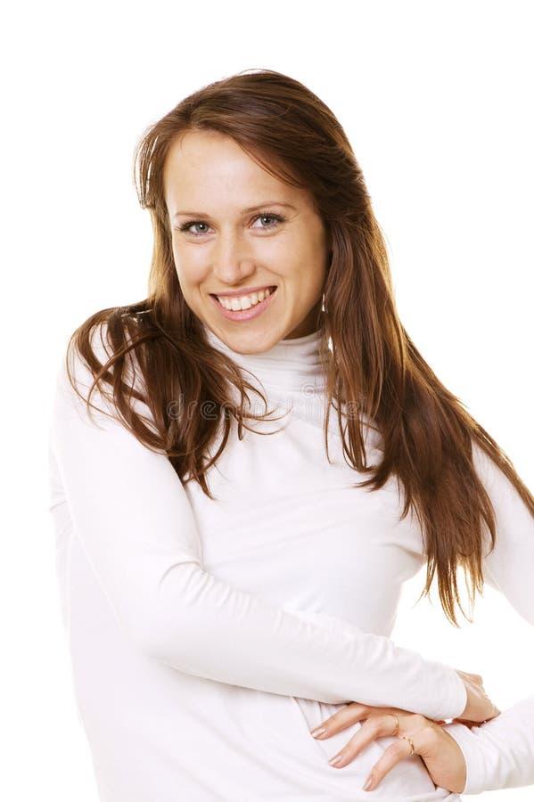 jolis jeunes souriants de fille photographie stock libre de droits