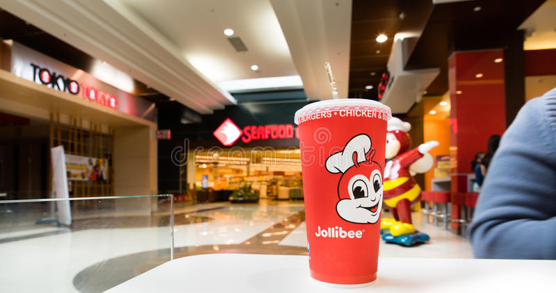 Jollibee filippinsk snabbmatrestaurang arkivbilder