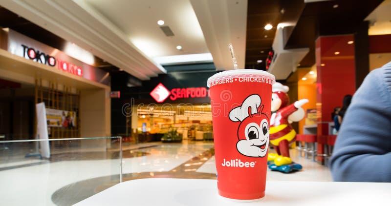 Jollibee, restaurante filipino do fast food imagens de stock